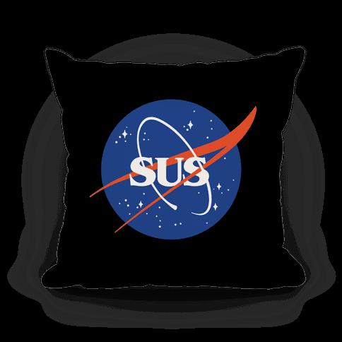 Sus Nasa Logo Parody Pillow