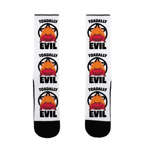 Toadally Evil Sock
