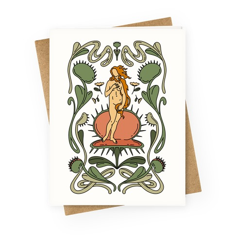 The Birth of Venus Fly Trap Greeting Card