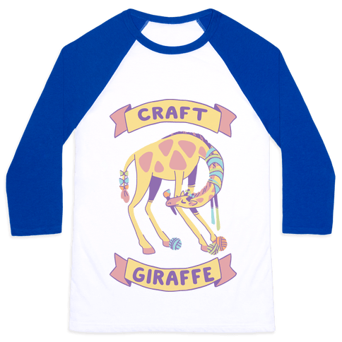 Craft Giraffe  Baseball Tee