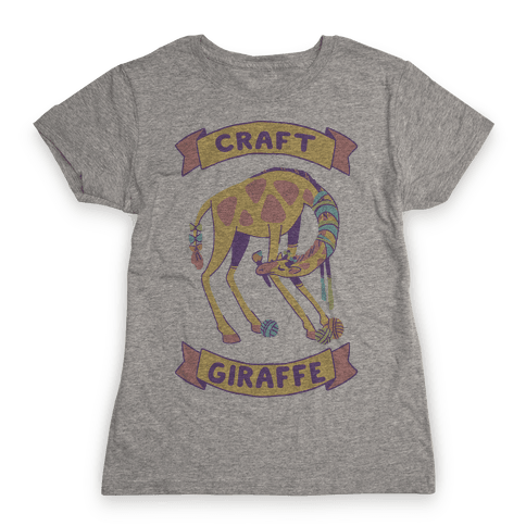 Craft Giraffe  Womens T-Shirt