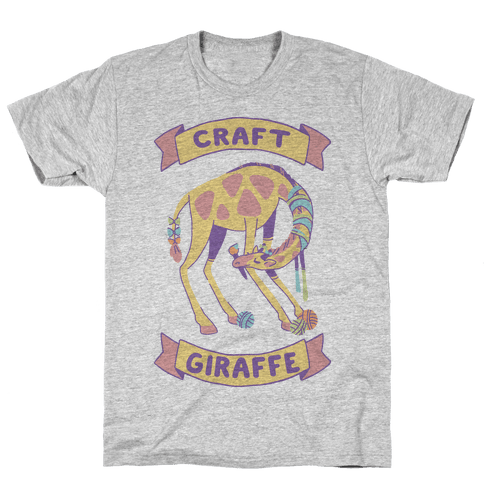 Craft Giraffe  Mens T-Shirt