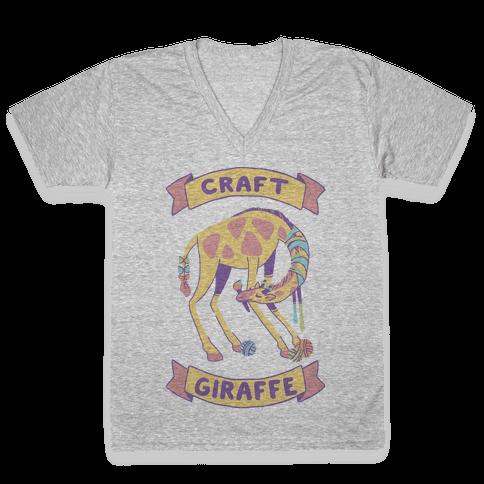 Craft Giraffe  V-Neck Tee Shirt