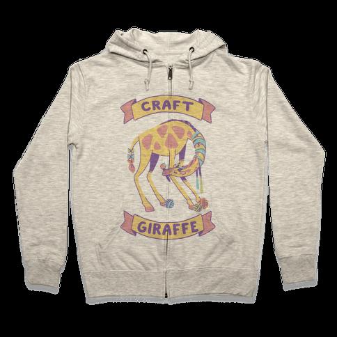 Craft Giraffe  Zip Hoodie