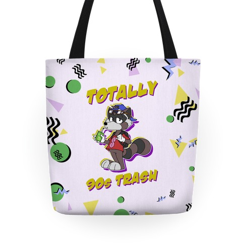 Totally 90's Trash Raccoon Tote