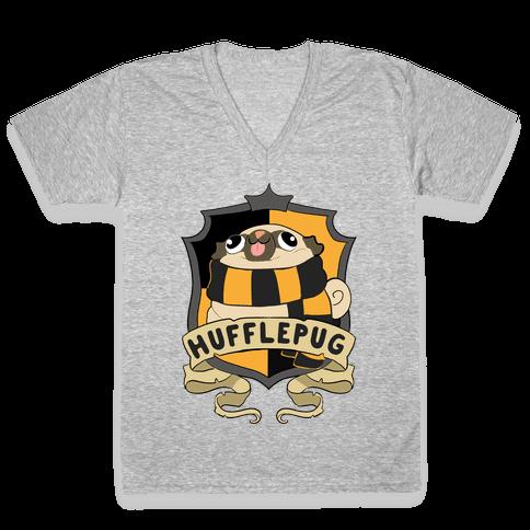 Hufflepug V-Neck Tee Shirt
