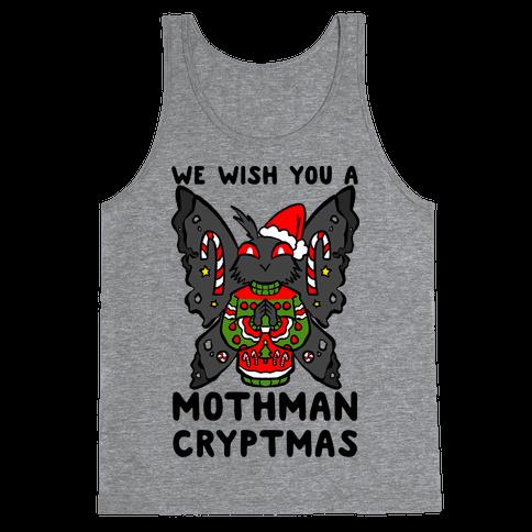 We Wish You A Mothman Cryptmas Tank Top
