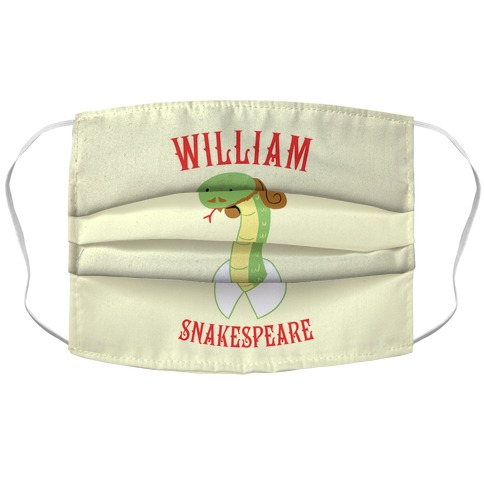 William Snakespeare Accordion Face Mask