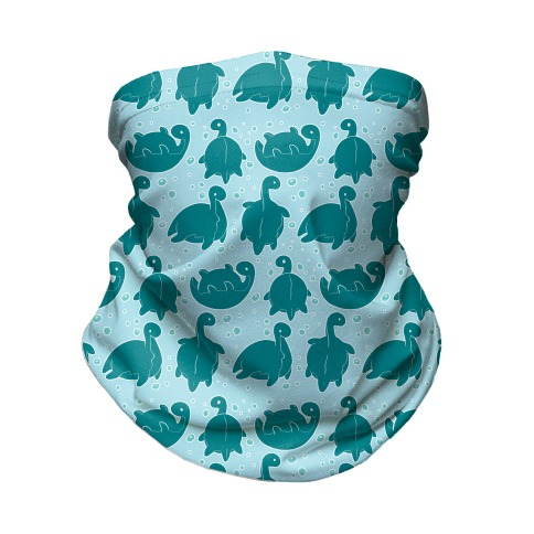 Cute Nessie Pattern Neck Gaiter