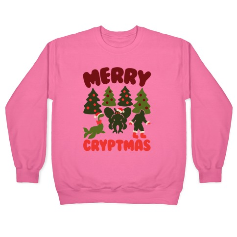 Merry Cryptmas White Print Pullover
