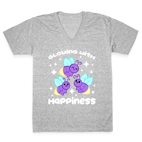 Glowing With Happiness V-Neck Tee Shirt
