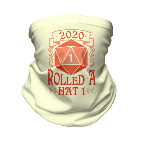 2020 Rolled A Nat 1 Neck Gaiter