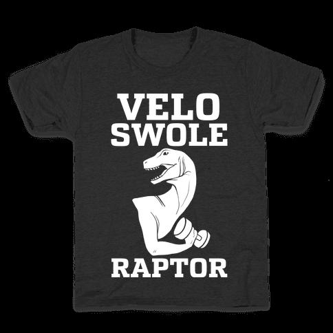 Velo-Swole-Raptor Kids T-Shirt