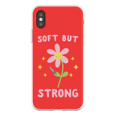 Soft But Strong Flower Phone Flexi-Case