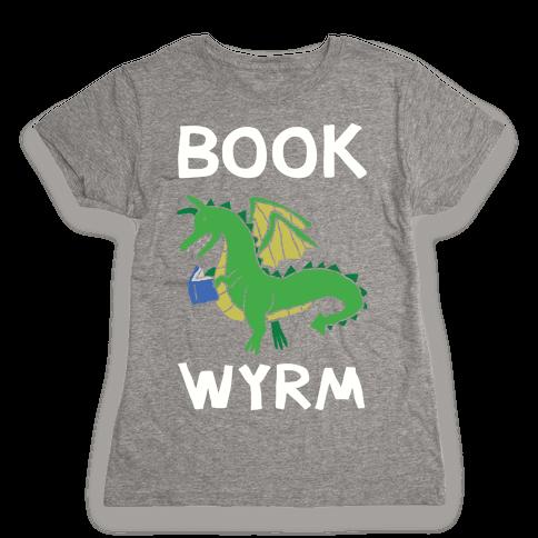 Book Wyrm Dragon Womens T-Shirt