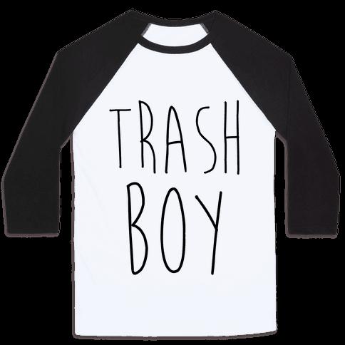Trash Boy Baseball Tee