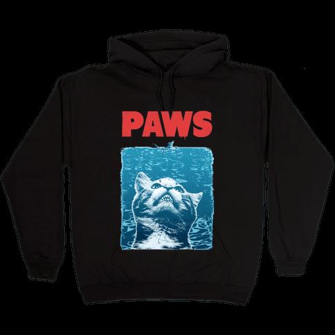 PAWS (Jaws Parody) Hooded Sweatshirt
