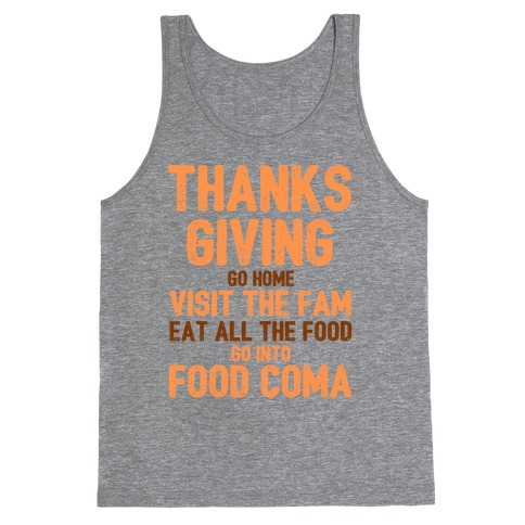 Thanksgiving Foodie Tank Top