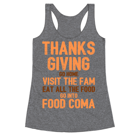 Thanksgiving Foodie Racerback Tank Top