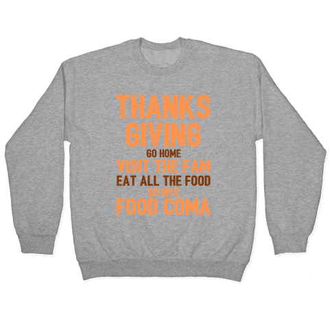 Thanksgiving Foodie Pullover