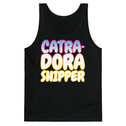 Catradora Shipper Parody White Print Tank Top