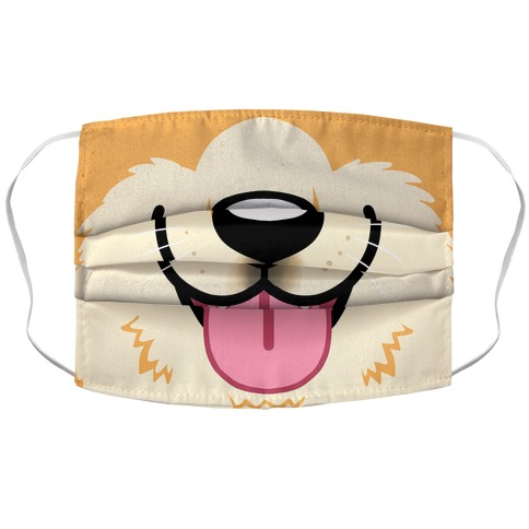 Corgi Mouth  Accordion Face Mask