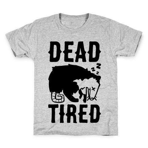 Dead Tired Possum Parody Kids T-Shirt