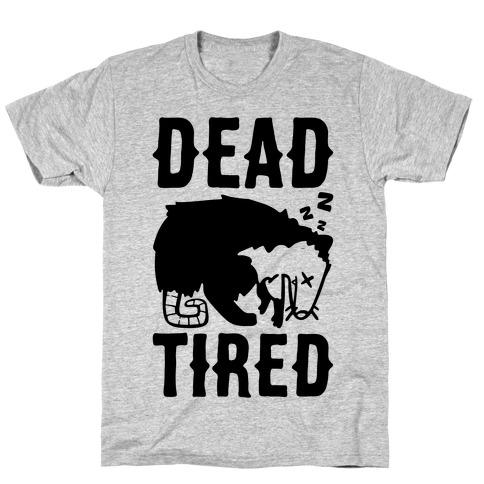 Dead Tired Possum Parody T-Shirt