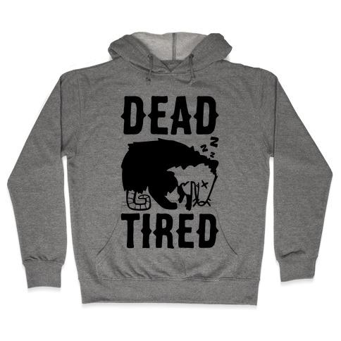 Dead Tired Possum Parody Hooded Sweatshirt