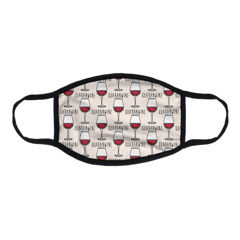 Quaranwine Flat Face Mask