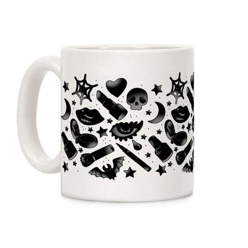 Goth Makeup Pattern Coffee Mug
