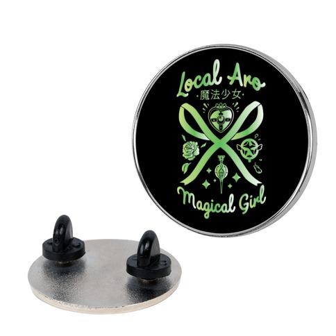 Local Aro Magical Girl Pin