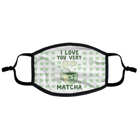 I Love You Very Matcha Flat Face Mask