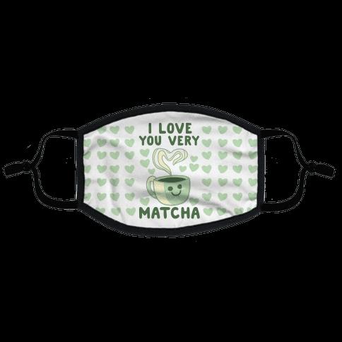 I Love You Very Matcha Flat Face Mask