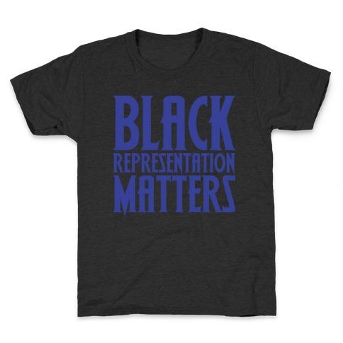 Black Representation Matters White Print Kids T-Shirt
