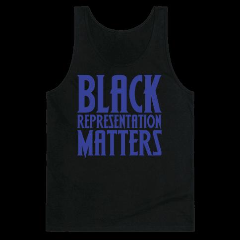 Black Representation Matters White Print Tank Top