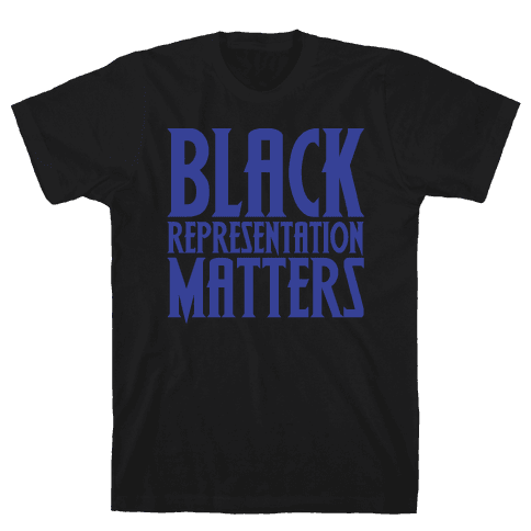 Black Representation Matters White Print Mens T-Shirt