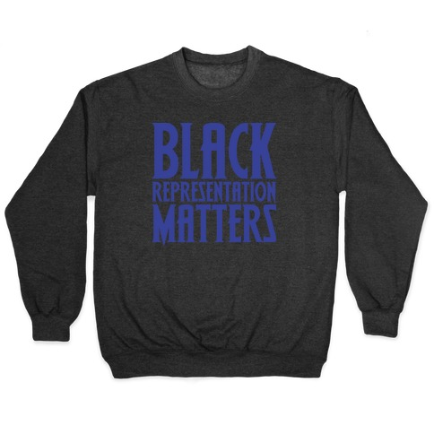 Black Representation Matters White Print Pullover