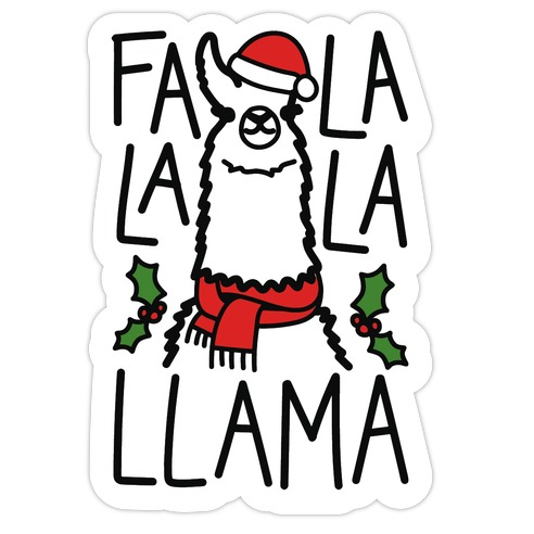 Falalala Llama Die Cut Sticker