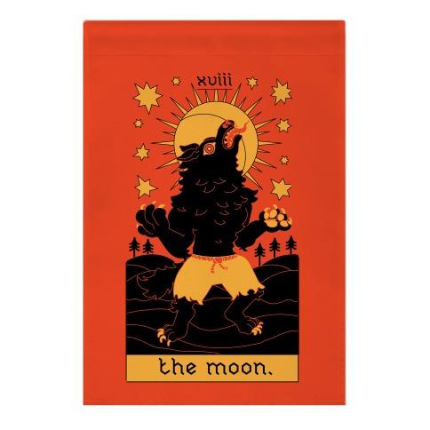 The Moon Werewolf Tarot Garden Flag