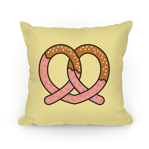Chocolate Dipped Pretzel Pillow