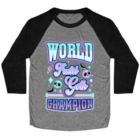 Pastel Goth World Champion Baseball Tee