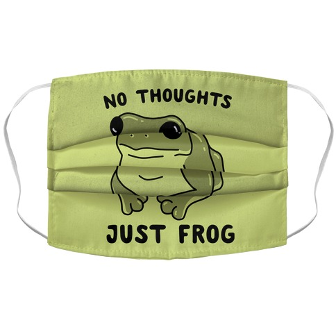 No Thoughts, Just Frog Accordion Face Mask