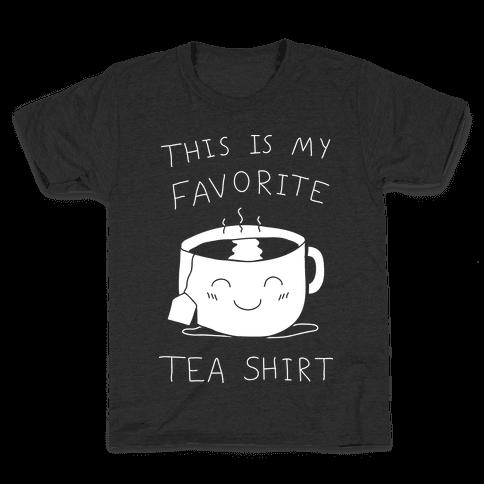 This Is My Favorite Tea Shirt Kids T-Shirt
