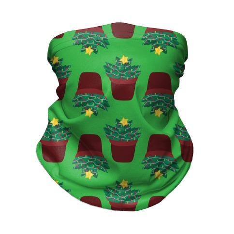 Christmas Succulent Pattern Neck Gaiter