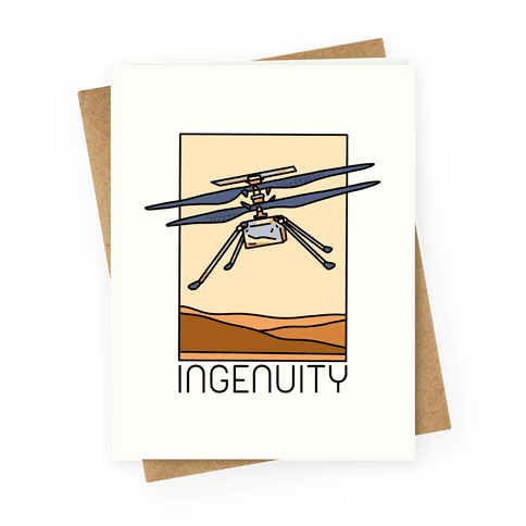 Ingenuity Mars Helicopter Greeting Card
