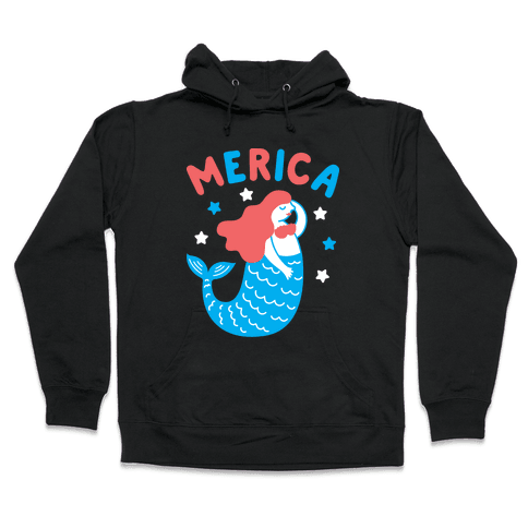 Merica Mermaid Hooded Sweatshirt