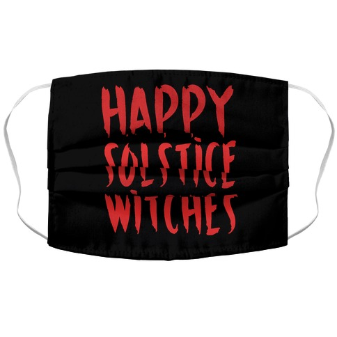 Happy Solstice Witches Parody  Accordion Face Mask