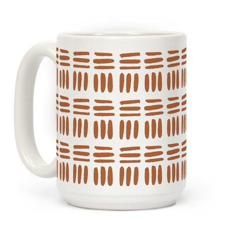 Dashed Lines Rust Boho Pattern Coffee Mug