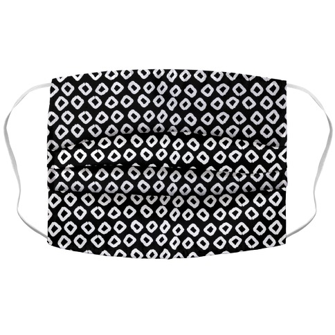 Abstract Diamond Black and White Boho Pattern Face Mask Cover